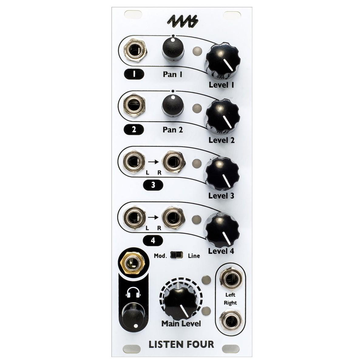4ms Listen Four Mixer Module (10HP)