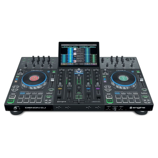 """Denon DJ Prime 4 Standalone DJ System with 10"""" Touchscreen - Front"""
