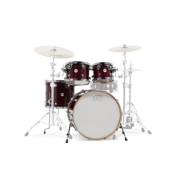 DW Design Series 22'' 4pc Shell Pack, Cherry Stain - Main image