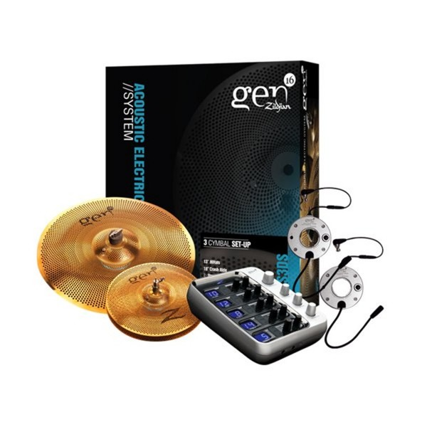 Zildjian G16BS3DS Gen16 Buffed Bronze 2 Cymbal Set with Processor