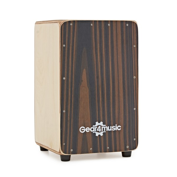 Compact Cajon and Gigbag by Gear4music, Ebony