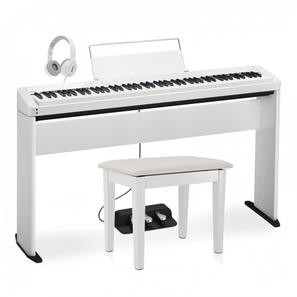 Casio PX S1000 Digital Piano Wood Frame Package, White