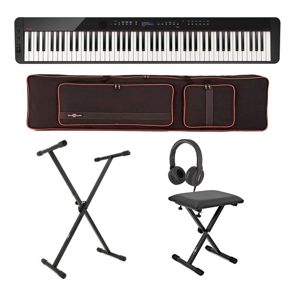 Casio PX S3000 Digital Piano X-Frame Package, Black