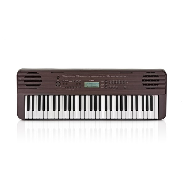 Yamaha PSR E360 Portable Keyboard, Dark Walnut