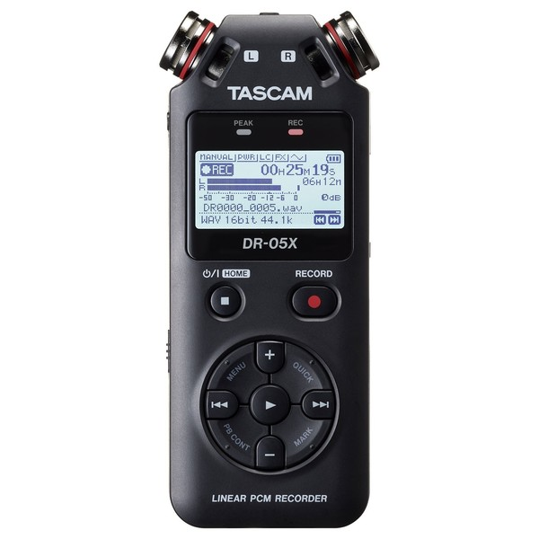 Tascam DR-05X Stereo Handheld Audio Recorder - Front
