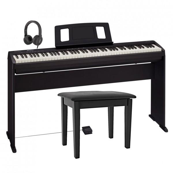 Roland FP 10 Digital Piano Deluxe Bundle, Black