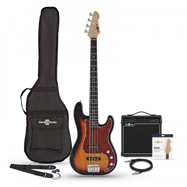 LA II Bass Guitar + 15W Amp Pack, Sunburst