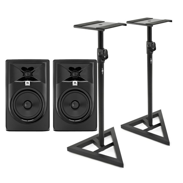 JBL 305P MKII with Stands, Pair - Main