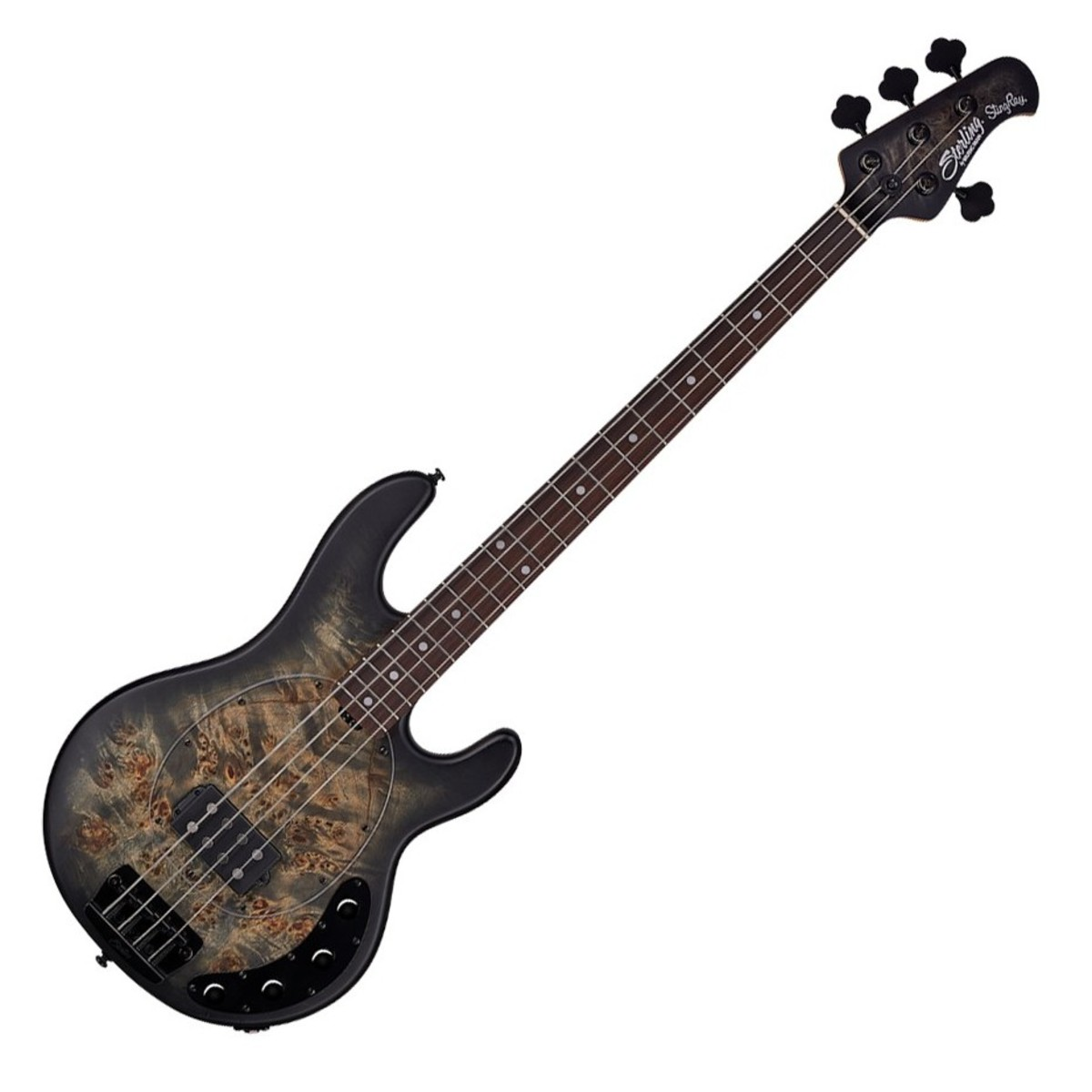 sterling by music man stingray bass rw trans black satin at gear4music. Black Bedroom Furniture Sets. Home Design Ideas