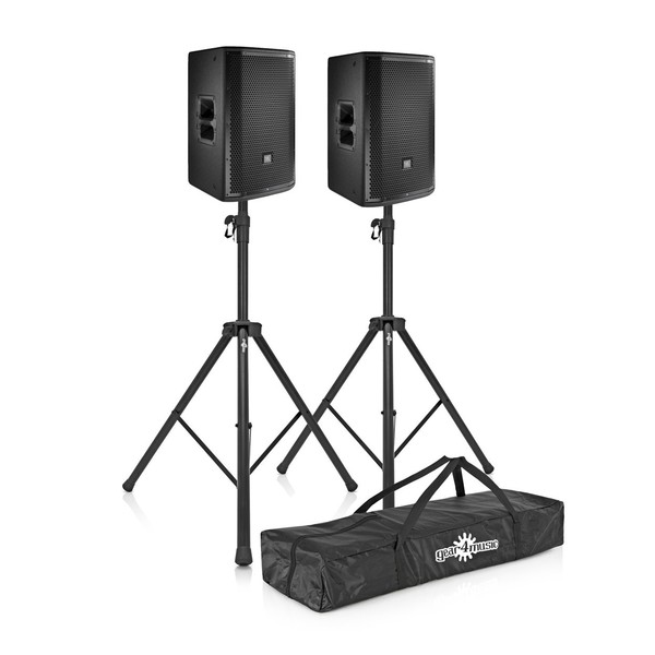 JBL PRX812W 12'' Two-Way Active PA Speaker Pair with Stands
