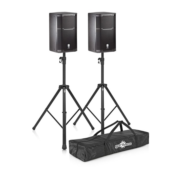 JBL PRX412M 12'' Passive PA Speaker Pair with Stands