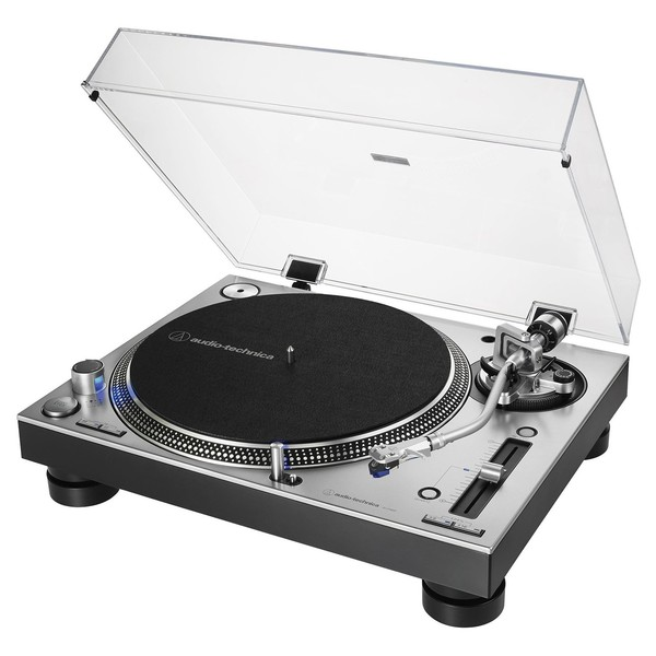 Audio Tehnica AT-LP140XP Direct Drive DJ Turntable - Angled Open