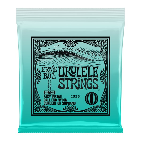 Ernie Ball Concert/Soprano Ukulele Strings Set, Black