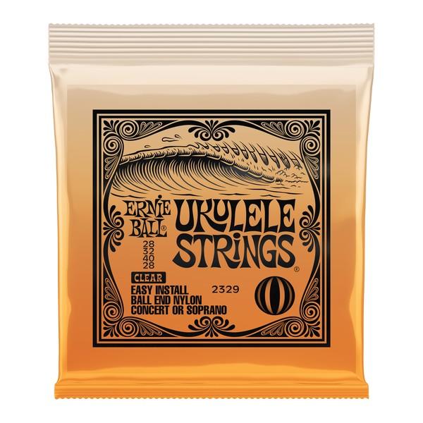 Ernie Ball Concert/Soprano Ukulele Strings Set, Clear