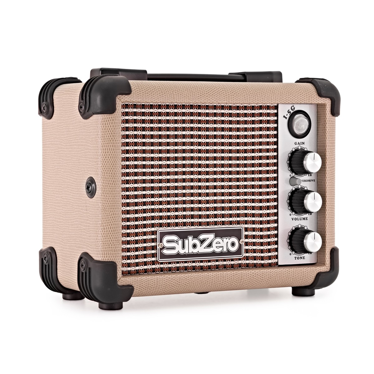 subzero micro electric guitar amp vintage cream at gear4music