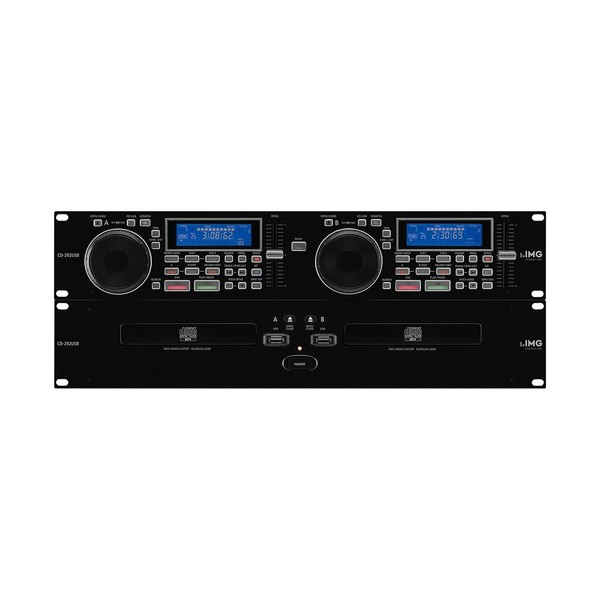 IMG Stageline CD-292USB Professional Dual CD and MP3 Player