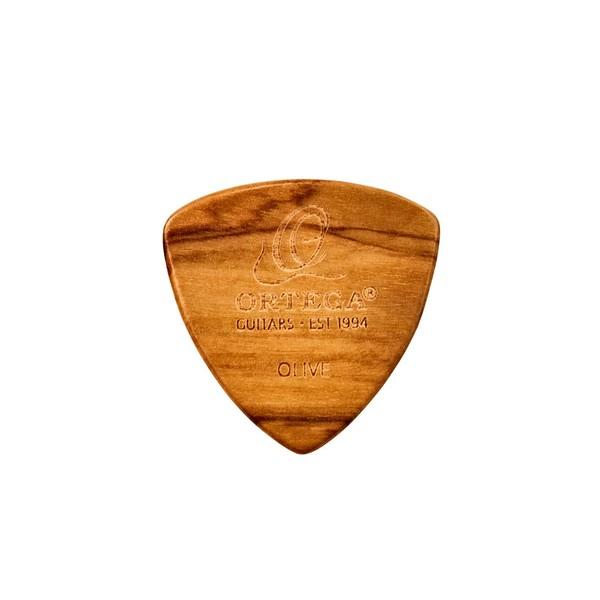 Ortega OGPWXLF-OV2 Wooden Picks Flat 2.0mm, Olive Front