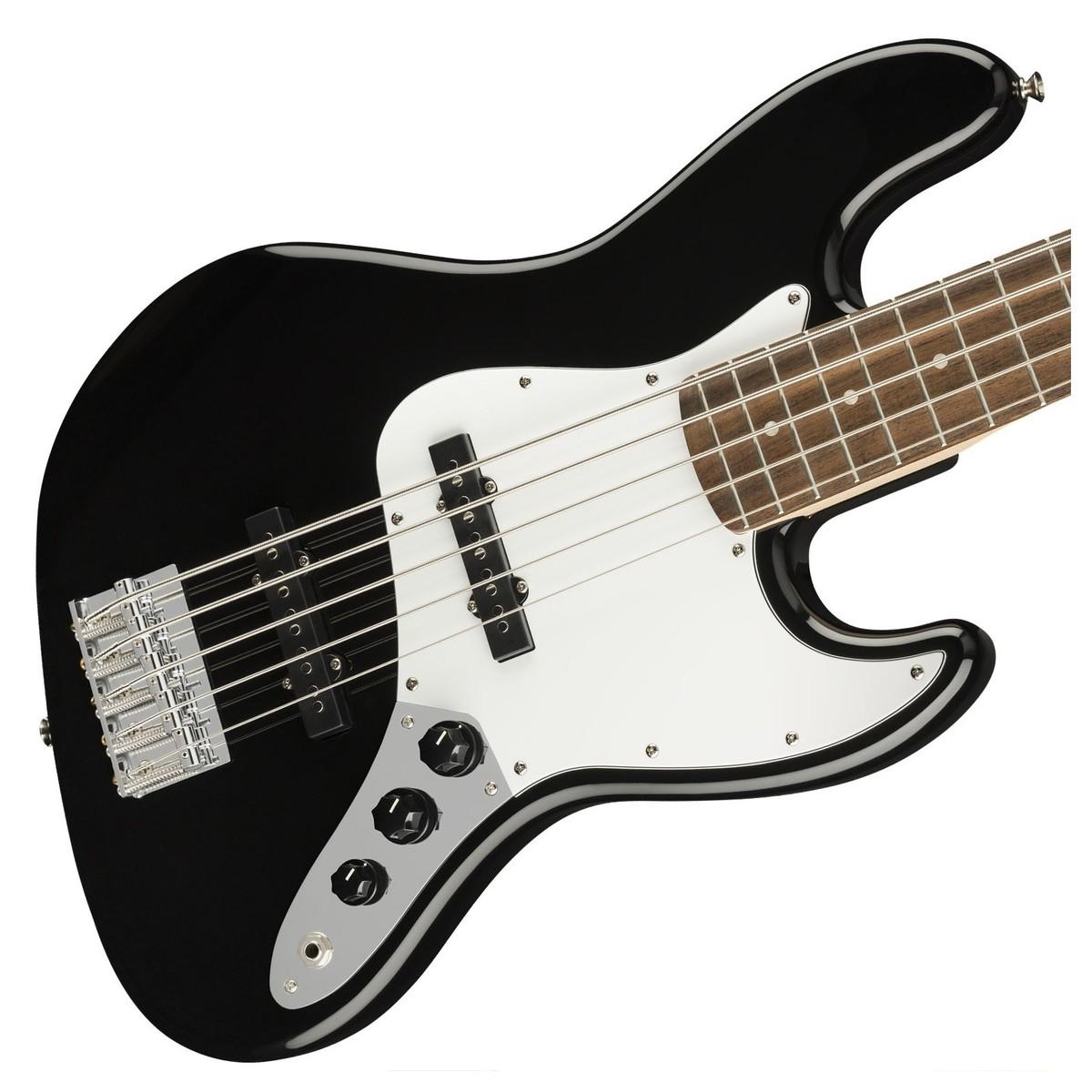 squier affinity jazz bass v 5 string black at gear4music. Black Bedroom Furniture Sets. Home Design Ideas