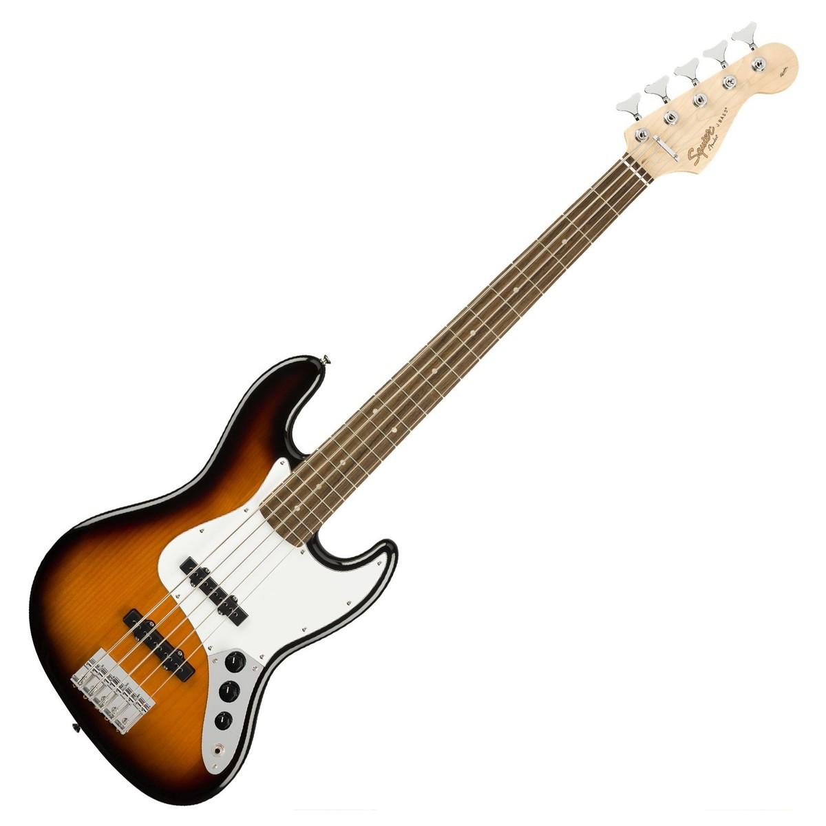 squier affinity jazz bass v 5 string sunburst at gear4music. Black Bedroom Furniture Sets. Home Design Ideas
