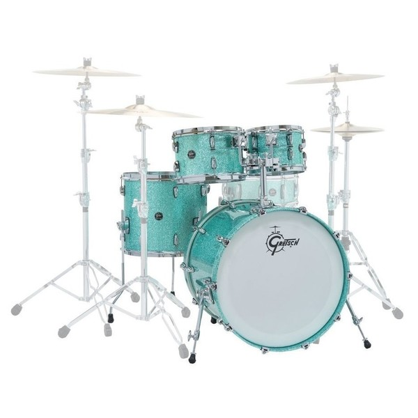 Gretsch Renown Maple 20'' Fusion 4pc Shell Pack, Turquoise Sparkle - Main Image