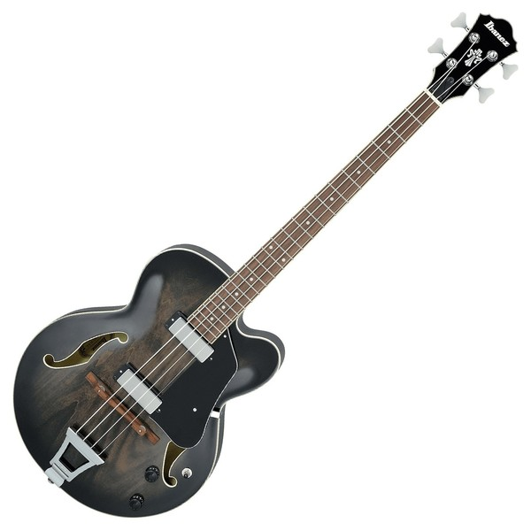 Ibanez AFB200 Artcore Bass, Trans Black Front View