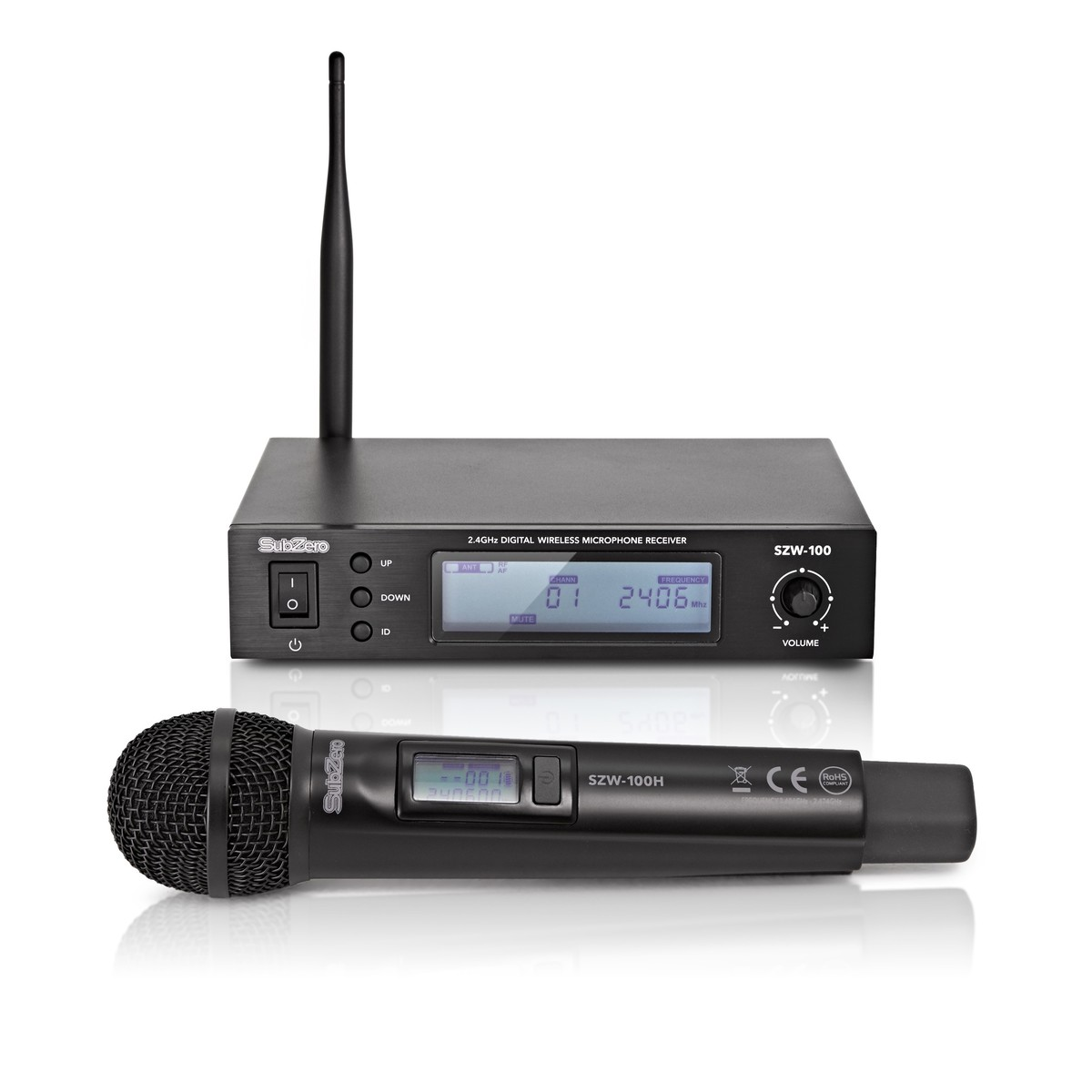subzero szw 100h digital wireless handheld microphone system b stock at gear4music. Black Bedroom Furniture Sets. Home Design Ideas
