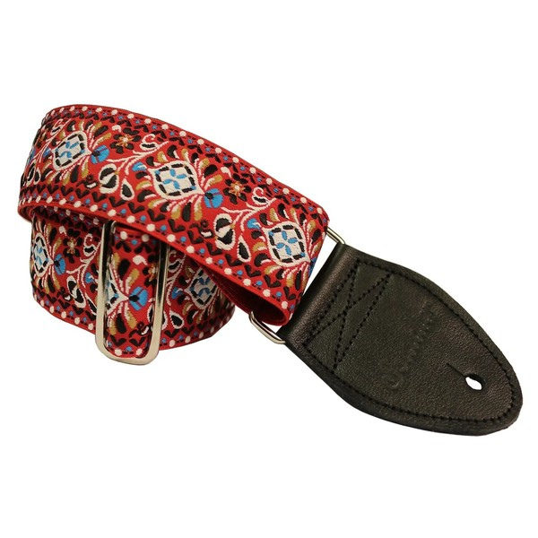 Souldier Guitar Strap Hendrix, White/Red Front View