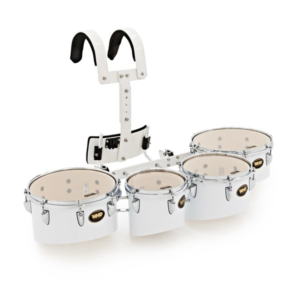 "WHD Professional Marching Tom Set with Carrier, 8"", 10"", 12"", 13"""