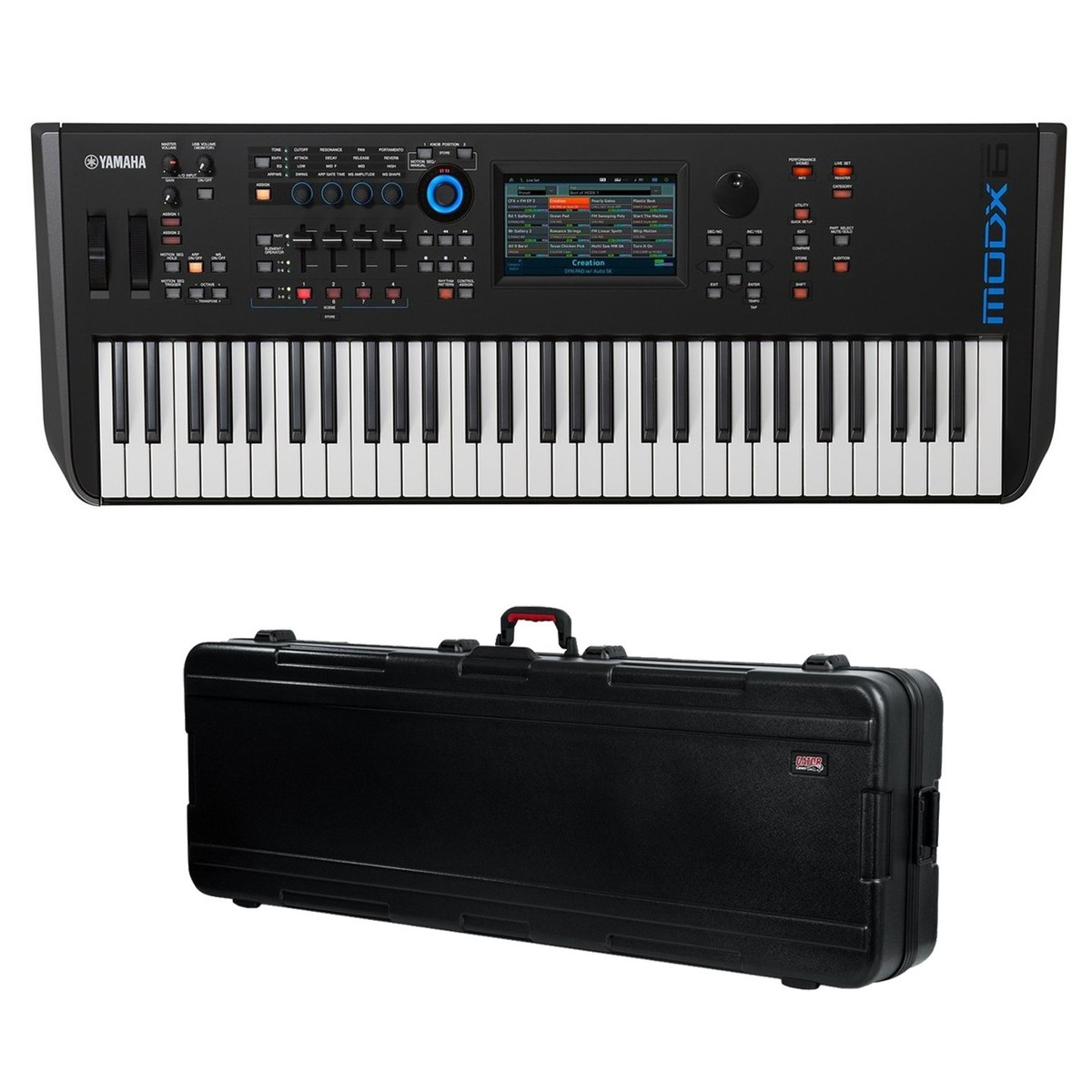 yamaha modx6 synthesizer keyboard with gator hard case at gear4music. Black Bedroom Furniture Sets. Home Design Ideas