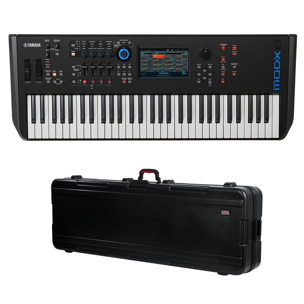 Yamaha MODX6 Synthesizer Keyboard with Gator Hard Case