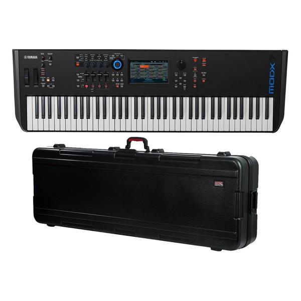 Yamaha MODX7 Synthesizer Keyboard with Gator Hard Case