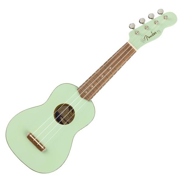 Fender Venice Soprano Ukulele WN, Surf Green - Front