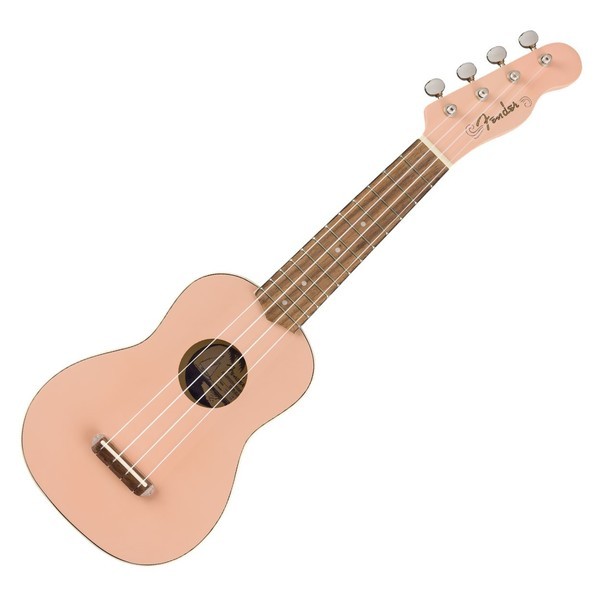 Fender Venice Soprano Ukulele WN, Shell Pink - Front