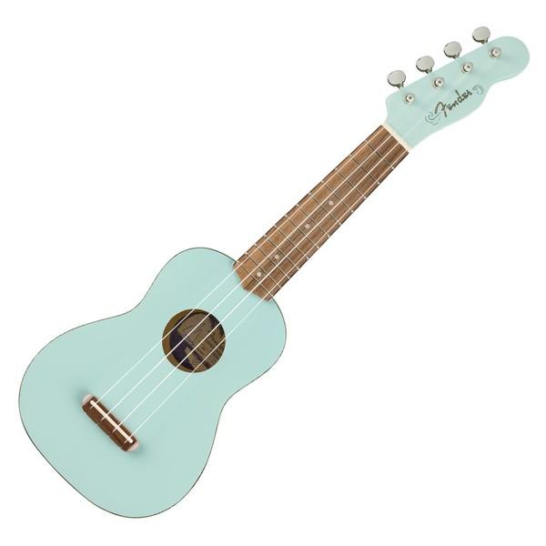 Fender Venice Soprano Ukulele WN, Daphne Blue - Front
