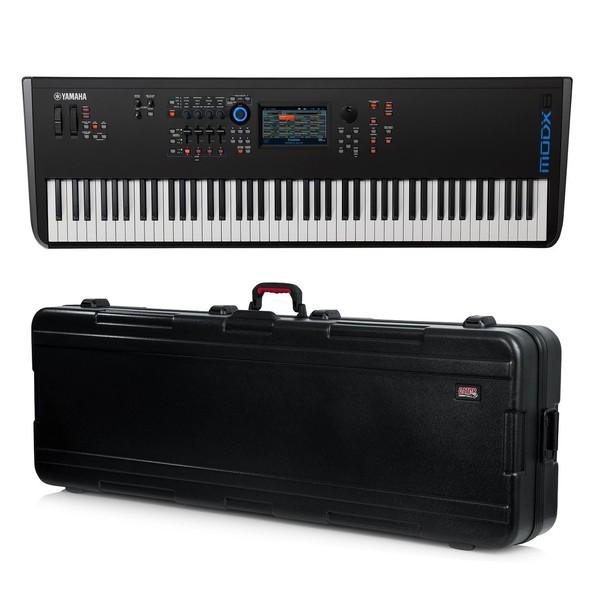 Yamaha MODX8 Synthesizer Keyboard with Gator Hard Case - Full Bundle