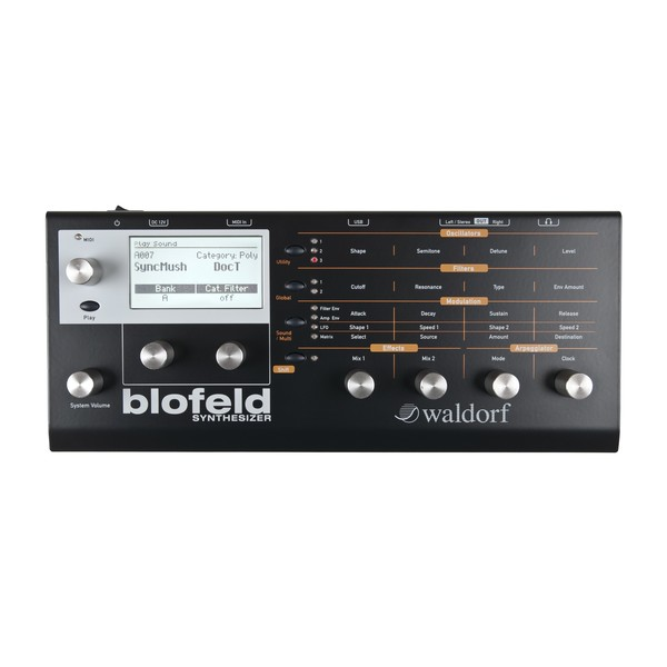 Waldorf Blofeld Synthesizer, Black - Main