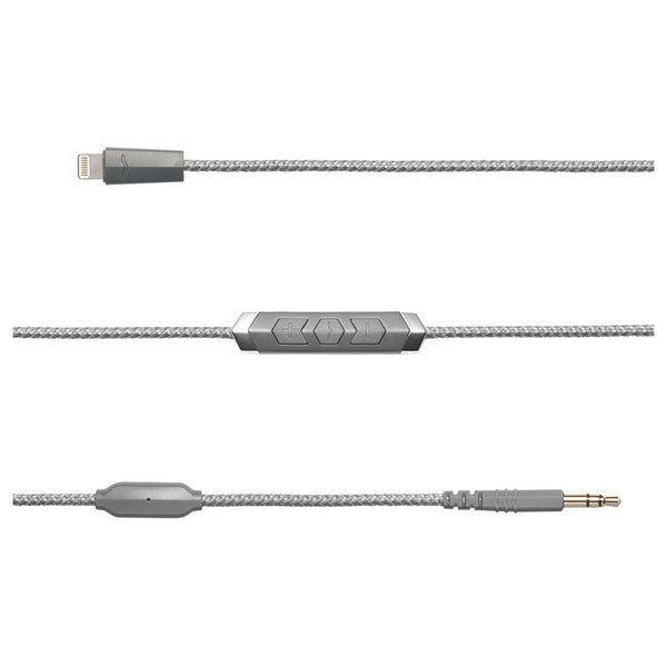 V-Moda Speakeasy Lightning Cable, Grey