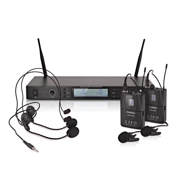 SubZero SZW-200L Dual Digital Wireless Headset and Lav Mic System