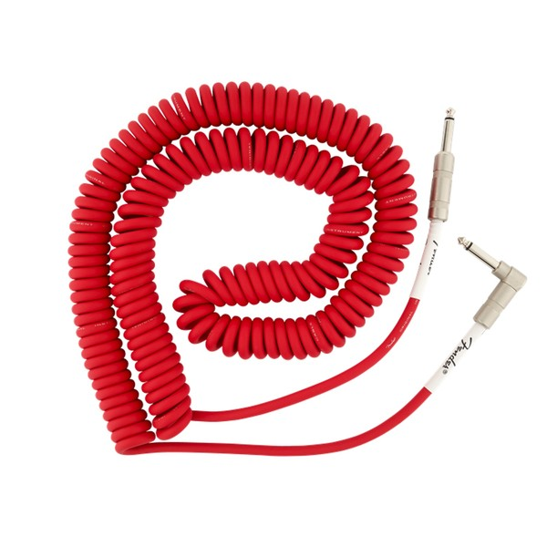 Fender Original 30ft Coil Straight/Angle Instrument Cable, Fiesta Red