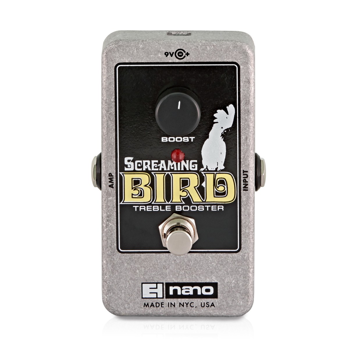 Click to view product details and reviews for Electro Harmonix Screaming Bird Treble Booster.