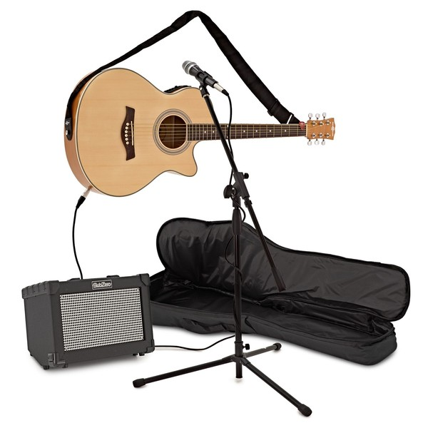 Complete Acoustic Guitar Buskers Bundle by Gear4music