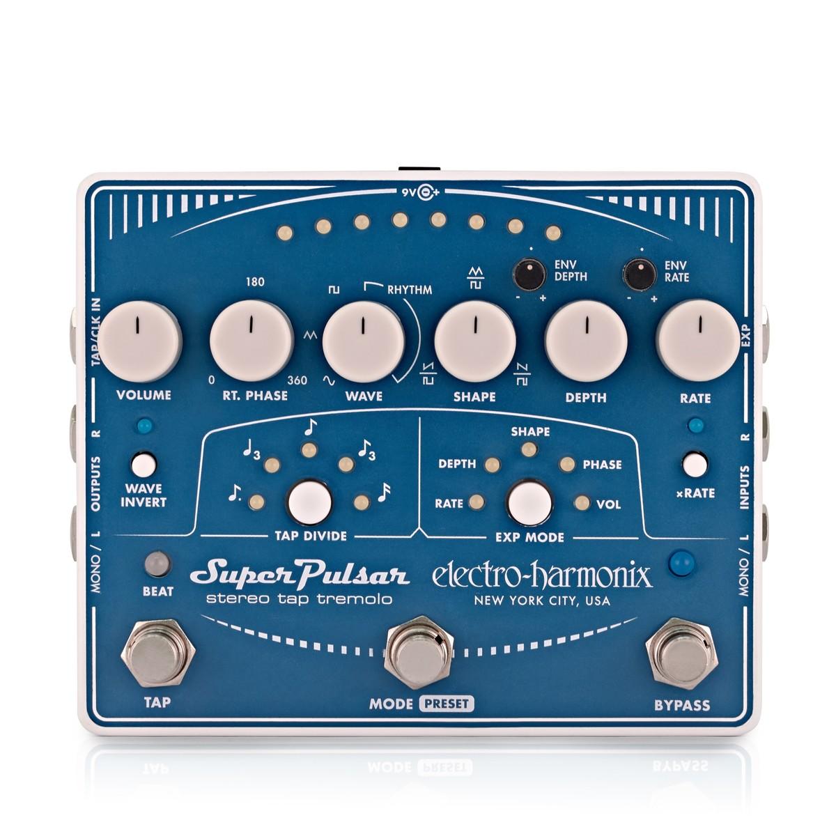 electro harmonix super pulsar stereo tap tremolo at gear4music. Black Bedroom Furniture Sets. Home Design Ideas