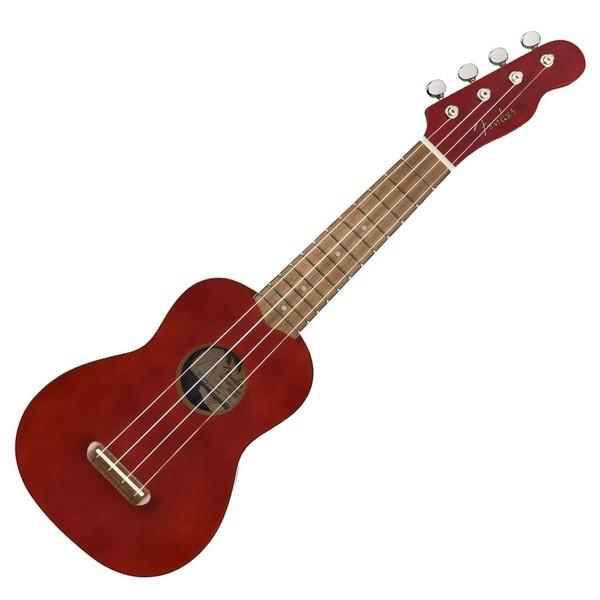 Fender Venice Soprano Ukulele WN, Cherry - Front