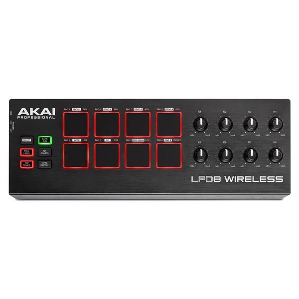 Akai LPD8 Wireless MIDI Controller - Top