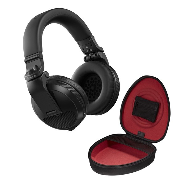 Pioneer HDJ-X5BT Bluetooth DJ Headphones, Black with Case
