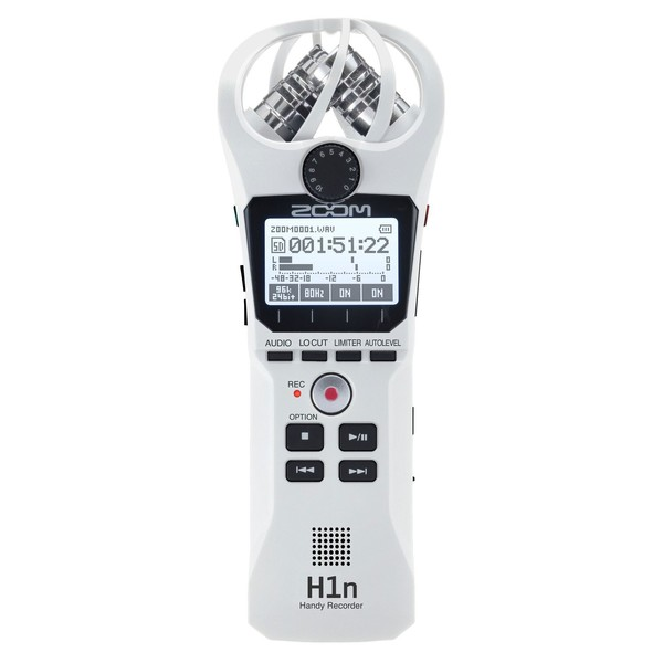 Zoom H1n Recorder, White - Front