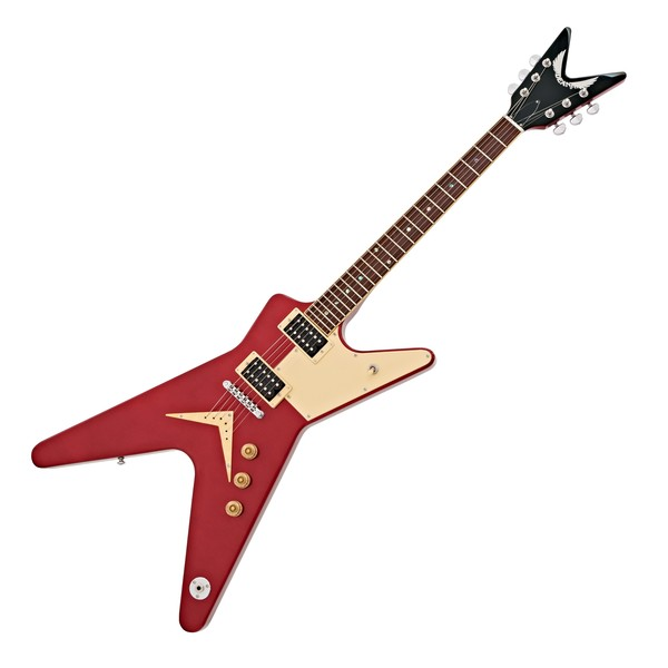 OFFLINE Dean ML 79 Standard Full Pickguard, Metallic Red main