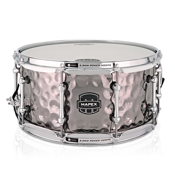 Mapex The Daisy Cutter 14 x 6.5in Hammered Steel Snare Drum main