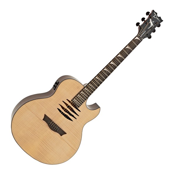 Dean Mako Dave Mustaine Flame Top Electro Acoustic, Gloss Natural main
