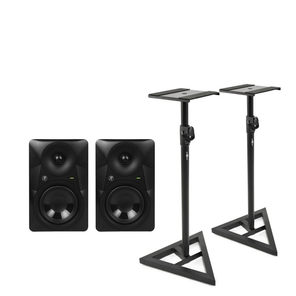 Mackie MR624 6.5'' Powered Studio Monitor Pair with Stands